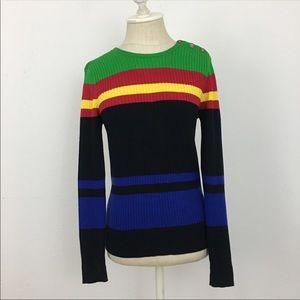Ralph Lauren Long Sleeve Color Block Pullover Sm
